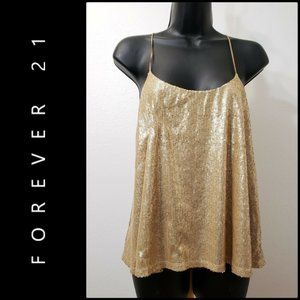 XXI WOMAN SEQUIN CLUB WEAR COCKTAIL SEXY TOP SMALL